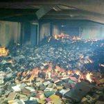 Incendio causado por maleantes destrozó la biblioteca de la UDO en Sucre